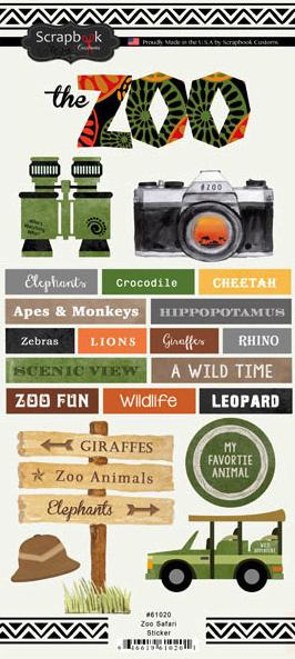 Zoo Safari Scrapbooking Stickers