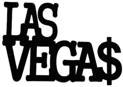 Las Vegas Scrapbooking Laser Cut Title with Dollars