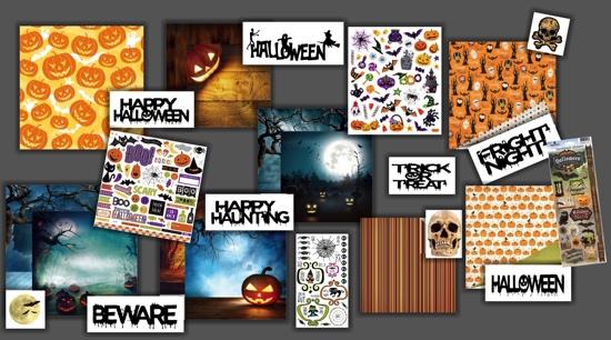 Halloween Scrapbooking Collage
