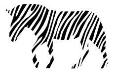 Zebra Stripes Glitter Die Cut Scrapbooking Sticker